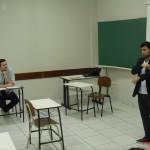 Professor Marcelo Valério à esquerda e Professor Carlos Alberto Franco à direita
