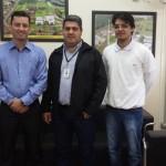 Prof. Roberto Pettres, Prof. Aloysio Gomes e Prof. William Júnior do Nascimento em Apucarana