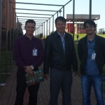 Prof. Roberto Pettres, Prof. Marcos Imamura  e Prof. William Júnior do Nascimento em Londrina