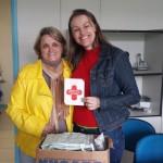Rosângela Galvão Cordeiro - Coordenadora dos CASAs (Central de Atenção a Saúde) e Andréia Assman Pettres - Enfermeira do Campus Avançado em Jandaia do Sul