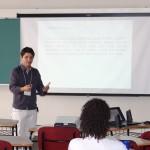 """Apresentação Oral do Projeto Extensão """"UFPR in LIBRAS"""" realizada por Anderson Rafael Siqueira Nascimento (Coordenador do Projeto);"""